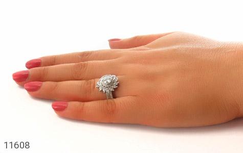 انگشتر نقره سولیتر طرح درخشنده زنانه - عکس 7