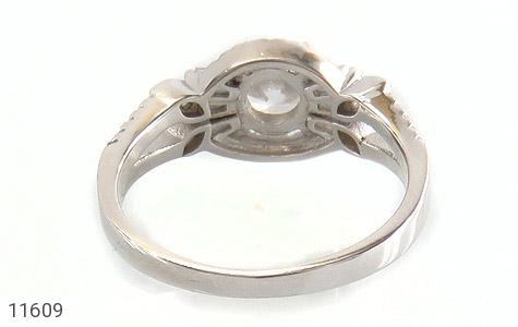 انگشتر نقره سولیتر طرح نازنین زنانه - تصویر 4