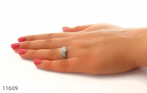 انگشتر نقره سولیتر طرح نازنین زنانه - عکس 7
