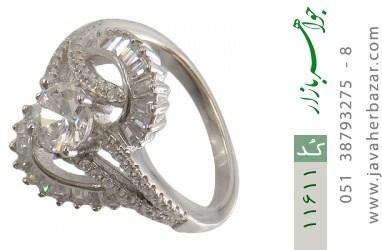 انگشتر نقره سولیتر طرح هلیا زنانه - کد 11611
