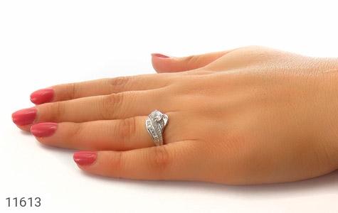 انگشتر نقره سولیتر طرح ثنا زنانه - عکس 7
