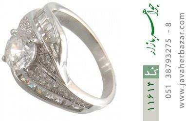 انگشتر نقره سولیتر طرح ثنا زنانه - کد 11613