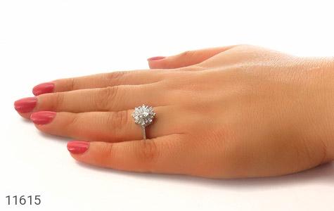 انگشتر نقره سولیتر طرح مهشید زنانه - عکس 7