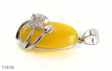 مدال عقیق زرد طرح نفس زنانه - تصویر 2