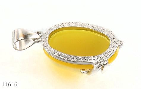 مدال عقیق زرد طرح نفس زنانه - عکس 3