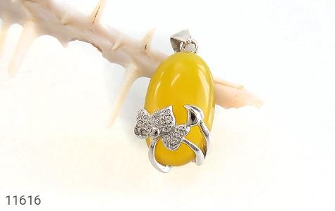 مدال عقیق زرد طرح نفس زنانه - تصویر 4