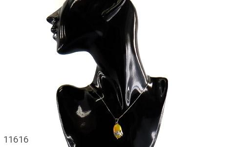 مدال عقیق زرد طرح نفس زنانه - عکس 7