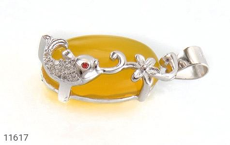 مدال عقیق زرد طرح ماهی ناز زنانه - تصویر 2