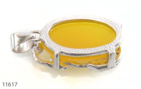 مدال عقیق زرد طرح ماهی ناز زنانه - عکس 3