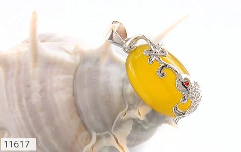 مدال عقیق زرد طرح ماهی ناز زنانه - تصویر 4