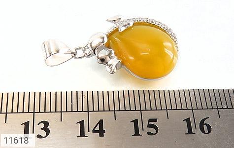 مدال عقیق زرد طرح دلبرانه زنانه - عکس 5