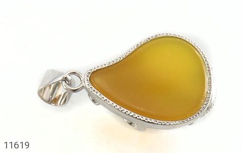 مدال عقیق زرد طرح ماهی زنانه - عکس 3