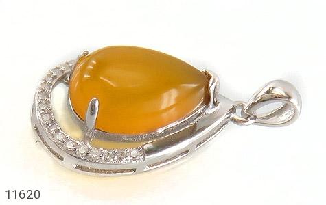مدال عقیق زرد طرح اشک درشت زنانه - تصویر 2
