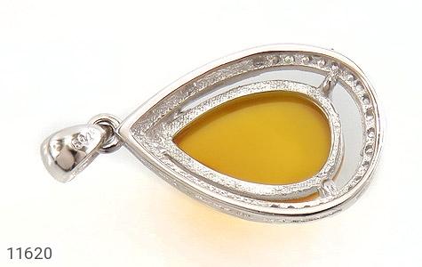 مدال عقیق زرد طرح اشک درشت زنانه - عکس 3
