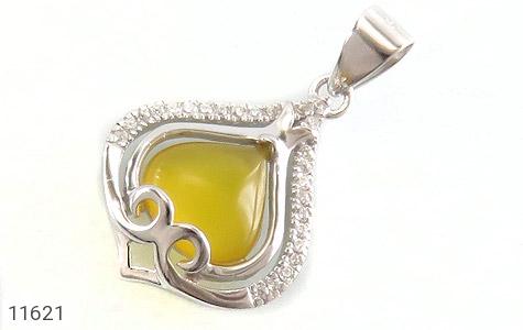 مدال عقیق زرد طرح گوهر زنانه - عکس 1