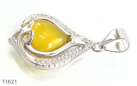 مدال عقیق زرد طرح گوهر زنانه - تصویر 2
