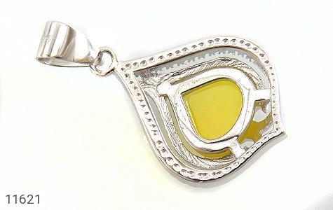 مدال عقیق زرد طرح گوهر زنانه - عکس 3