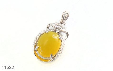 مدال عقیق زرد طرح جمیل زنانه - عکس 1