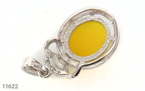 مدال عقیق زرد طرح جمیل زنانه - تصویر 2