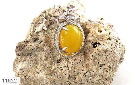مدال عقیق زرد طرح جمیل زنانه - عکس 3