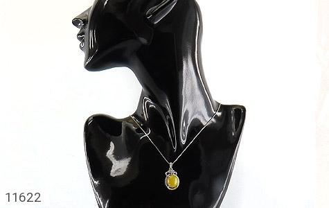 مدال عقیق زرد طرح جمیل زنانه - تصویر 6