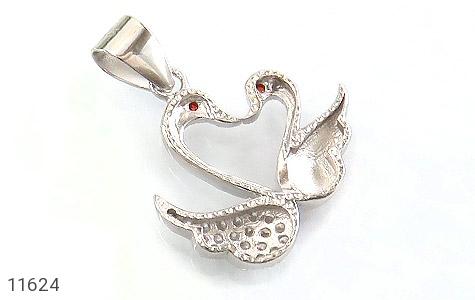 مدال نقره میناکاری طرح عشق زنانه - تصویر 2