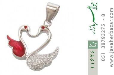 مدال نقره میناکاری طرح عشق زنانه - کد 11624