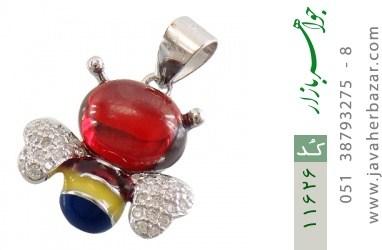 مدال نقره میناکاری طرح زنبور زنانه - کد 11626