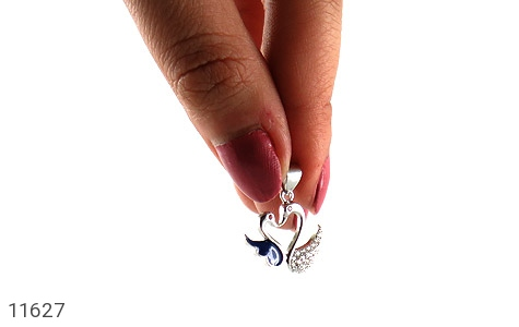 مدال نقره میناکاری طرح عشق زنانه - عکس 5