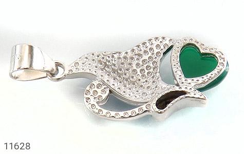 مدال عقیق سبز طرح پروانه زنانه - تصویر 2