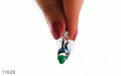 مدال عقیق سبز طرح پروانه زنانه - عکس 5