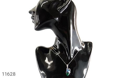 مدال عقیق سبز طرح پروانه زنانه - تصویر 6