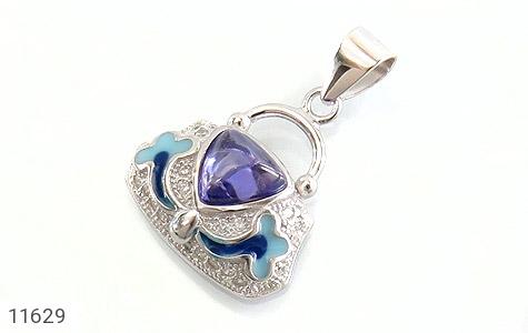 مدال نقره میناکاری زینتی زنانه - عکس 1