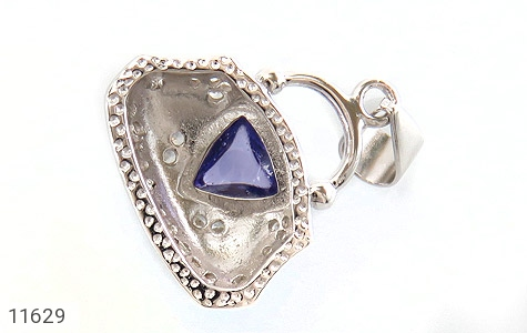 مدال نقره میناکاری زینتی زنانه - تصویر 2