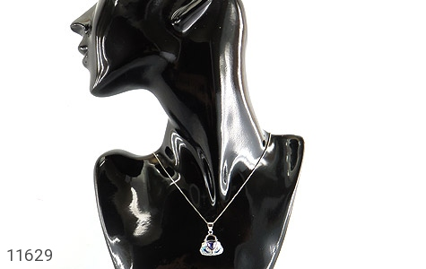 مدال نقره میناکاری زینتی زنانه - تصویر 6