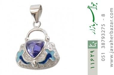 مدال نقره میناکاری زینتی زنانه - کد 11629
