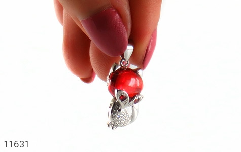 مدال نقره میناکاری طرح روباه زنانه - عکس 5