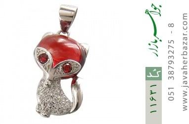 مدال نقره میناکاری طرح روباه زنانه - کد 11631