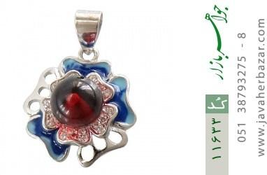 مدال نقره میناکاری طرح خجسته زنانه - کد 11633