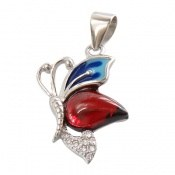 مدال نقره میناکاری پروانه جذاب زنانه