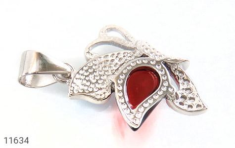 مدال نقره میناکاری پروانه جذاب زنانه - تصویر 2