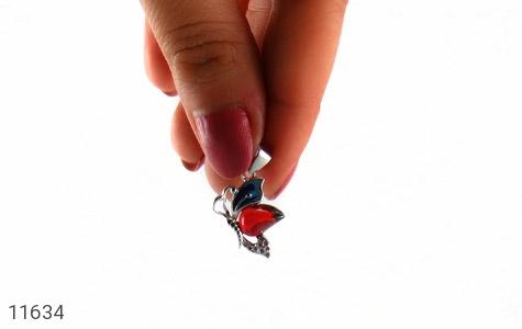 مدال نقره میناکاری پروانه جذاب زنانه - تصویر 6