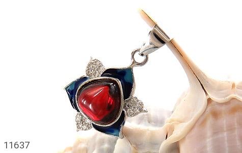 مدال نقره میناکاری جذاب زنانه - تصویر 4