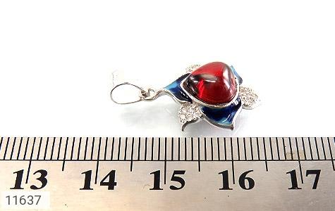 مدال نقره میناکاری جذاب زنانه - عکس 5