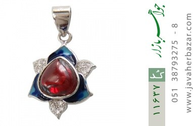 مدال نقره میناکاری جذاب زنانه - کد 11637
