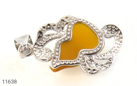 مدال عقیق میناکاری طرح پیچک زنانه - تصویر 2