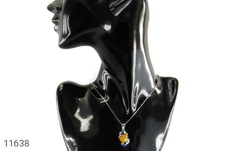 مدال عقیق میناکاری طرح پیچک زنانه - تصویر 6