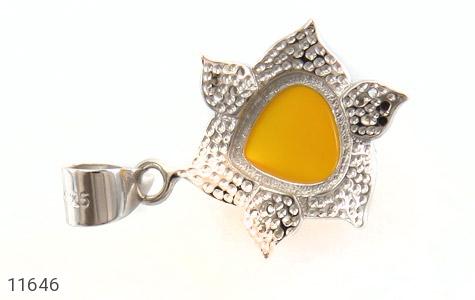 مدال عقیق زرد میناکاری طرح جمیل زنانه - عکس 3