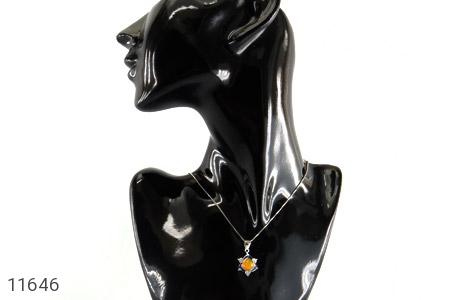 مدال عقیق زرد میناکاری طرح جمیل زنانه - تصویر 6