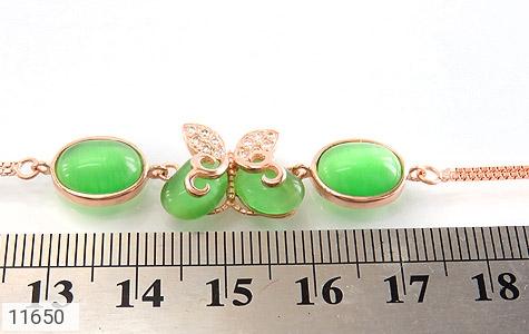 دستبند چشم گربه پروانه اشرافی زنانه - تصویر 4